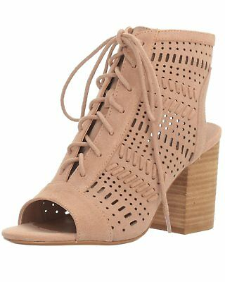 undefeated x get cheap latest STEVE MADDEN WOMENS Gavell Lace-Up Block Heel Sandals Camel Suede ...