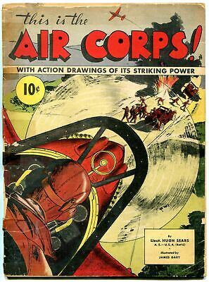 This is the Air Corps 1941- comic book style art- aircraft & military
