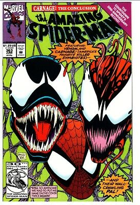 AMAZING SPIDER-MAN #363 Great cover! comic book Marvel venom / carnage NM-