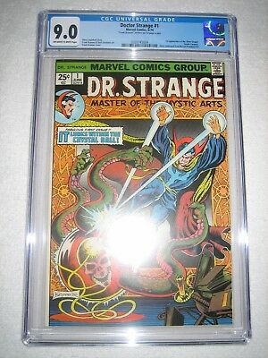 DOCTOR STRANGE # 1 CGC 9.0 OW/WH - 1st APPEARANCE OF THE SILVER DAGGER!! DR.