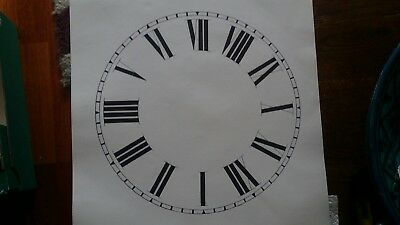 "Vintage paper Roman Numerals clock face new old stock 10"" diameter Matt cream"