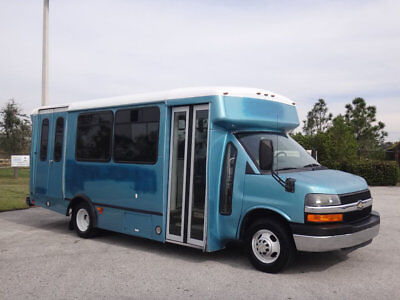 2010 Chevrolet Express 3500 Cutaway Shuttle Bus 6.0L Gas RV Camper Party Bus Gas