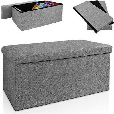 Large Decorative Storage Box Stool Bench Ottoman Seat Kids Bed Living Room Chest