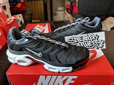 Nike Air Max Plus SE TN Tuned 1 Taped Pull Black White AQ4128 001 Men's Running Shoes AQ4128 001