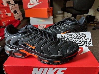 Nike Air Max Plus Tn Tuned 1 Black Total Orange Yellow Running