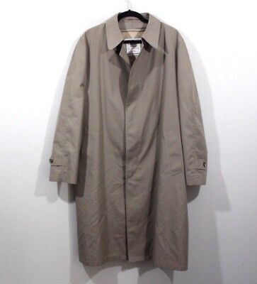 Vintage 80s CHRISTIAN DIOR Mens 44R Le Connaisseur Lined Trench Coat Jacket Tan