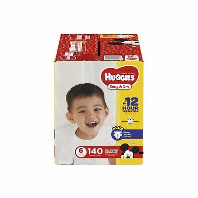 HUGGIES Snug & Dry Diapers, Size 6, 140 Count, ECONOMY PLUS (Packaging Ma... New
