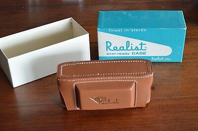 Vintage Stereo Realist Leather Camera Case Model 2506 New In Box