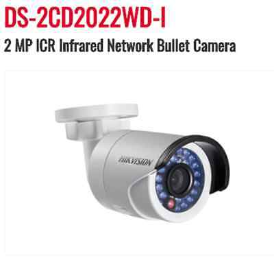Genuine HIKVISION USA DS-2CD2022WD-I-4 Bullet Cam 2MP - 4mm **w/Factory Warrnty*