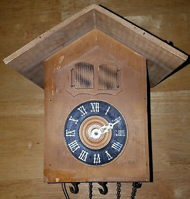 "Vintage Black Forest Musical Cuckoo Clock (parts or repair) ""Ivanovici"""