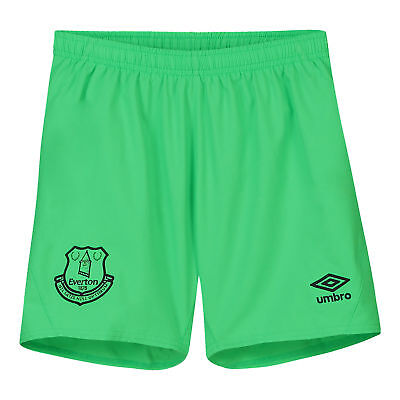 Everton Official Goalkeeper Home Shorts 2018-19 Kids Umbro Football Trousers