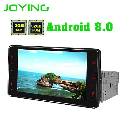 "Android 8.0 8-Core 6.2"" Full TouchScreen Single Din 2GB RAM Car GPS Navigation"