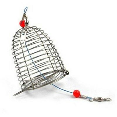 3 Size Lure Bait Cage Stainless Steel Wire Fishing Trap Basket Feeder Holder .!