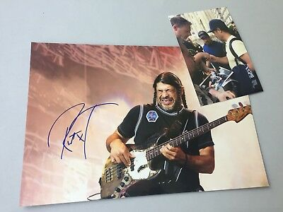 ROBERT TRUJILLO Metallica In-person signed Foto 20x30 Autogramm+Foto SONDERPREIS