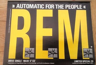 R.E.M. Automatic 1992 GERMAN magazine ADVERT/Poster/clipping 11x8 inches