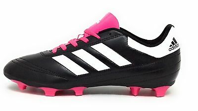 new style 20c47 0b8f0 Adidas Kids Goletto VI J Firm Ground Soccer Cleats Black White Pink Youth  5.5