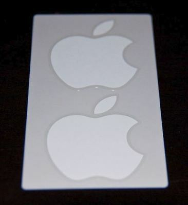 Apple Logo Stickers x 4 ~ Brand New Genuine for iPad iPhone X