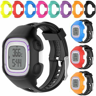 Soft Silicone Frame Case Cover Skin Shell For Garmin Forerunner 10 15 GPS Watch