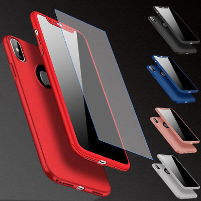 Screen Protector 360° Protective Rugged Cover Case For iPhone 6s 7 8 Plus X SE