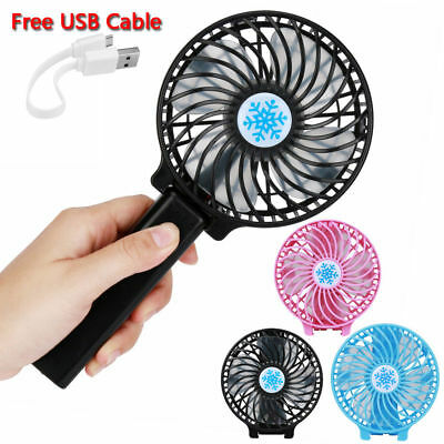 Small Mini Clip Portable Fan Blower Hand Held Air Cooling Office Home Brand New