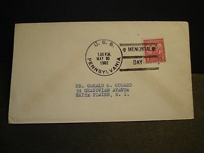 USS PENNSYLVANIA BB-38 Naval Cover 1932 MEMORIAL DAY