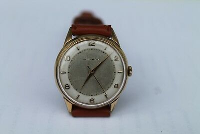 Antique Vintage Old Swiss Made Movado Mens  Watch Gold Plated Cal. 7463 17Jewels
