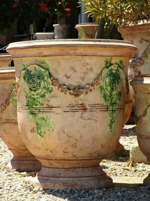 """19¾"""" bespoke French Anduze urn garden planter, 17 different finishes available"""