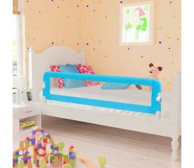 Toddler Safety Bed Rail Foldable Cot Single Double Prevents Roll Falling Blue