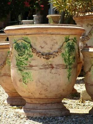 """23½"""" bespoke French Anduze urn garden planter, 17 different finishes available"""