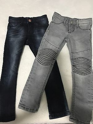 2 PAIRS of Child H&M Skinny Fit Jeans/Denim/Trousers For Girls Size EUR92 AUS2