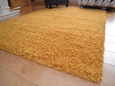 Ochre Mustard Gold Small Extra Large Soft Thick Plain Shaggy Floor Mat Rug Cheap