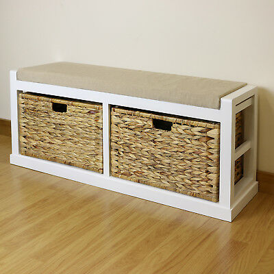 Excellent White Twin Seat Hallway Home Shoe Storage Bench Foam Pdpeps Interior Chair Design Pdpepsorg