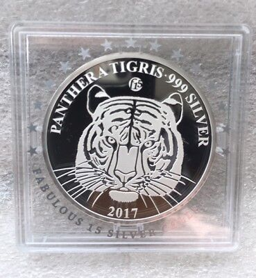 500 KIP Tiger Panthera Tigris Privy Mark f15 Fabulous Laos Silber PP 2017