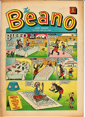 BEANO  # 1242 May 7th 1966 Eric Clapton Blues Breakers Album cover the comic
