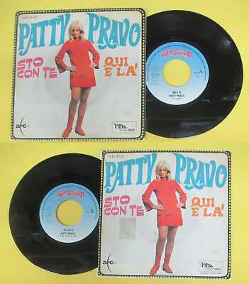 LP 45 7'' PATTY PRAVO Sto con te Qui e la' FAVOLOSI ANNI 60 RED RONNIE no cd mc*