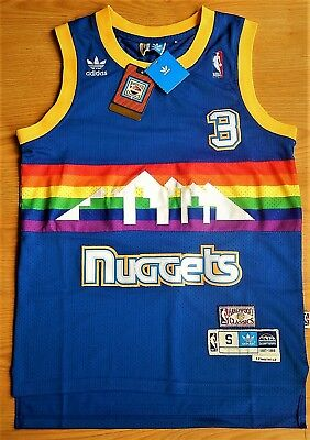 Allen Iverson #3 | Denver Nuggets (1987 - 1988) Hardwood Classics Throwback NBA