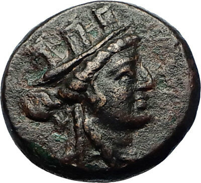 SMYRNA in IONIA Authentic Ancient 180BC Greek Coin w CYBELE & APHRODITE i69551