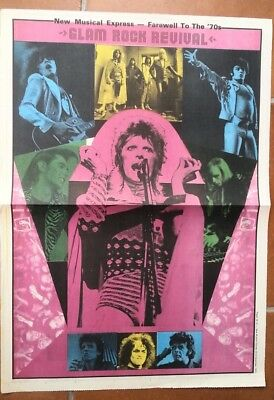 DAVID BOWIE SWEET T REX 1979 Vintage Newspaper POSTER  size:16x24 inches