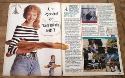 KYLIE MINOGUE 'in Paris' 1988 3 page UK ARTICLE / clipping