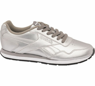 a2154e46b015 Reebok Classic Royal Glide Women`s Leather Trainers Shoes Silver Metallic  BS7880
