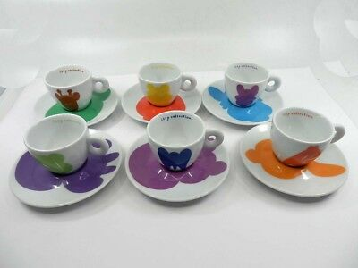 ILLY COLLECTION 2001 Jeff Koons 6 tazzine espresso cups