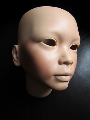 """Vintage Bisque Doll Head Yen Lun Jade by Gwen Ross Mystic Mold Co.1991 - 6 1/2"""""""