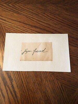 Rare Sigmund Freud Signed Autograph Album Page Card Founder Of Psychoanalysys