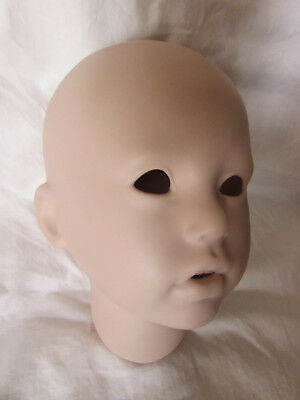 """Large Vintage Bisque Doll Head Sherry by Rubert 1994 Dollworks - 6 1/2"""""""