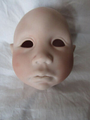 """Bisque Doll Head  Kaboul 1989 4 1/2"""" Tall Doll Maker Horde"""