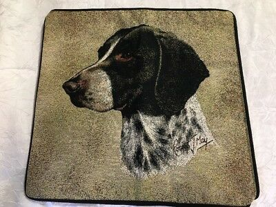 German Short-haired Pointer Dog head Zippered Pillow COVER Cotton Tapestry NEW