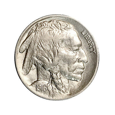 1916 P Buffalo Nickel - Choice BU / MS / UNC