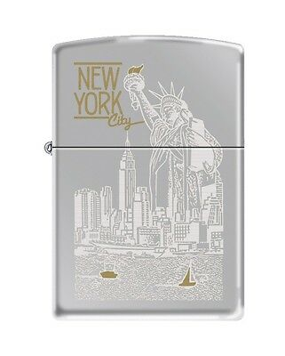 "Zippo ""Statue of Liberty-New York City"" High Polish Chrome Lighter, 6357"