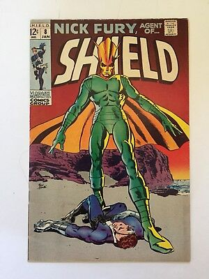 Nick Fury, Agent of SHIELD #8 Marvel 1969 Mid Grade Condition FN- (5.5)