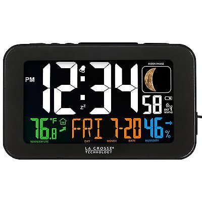 617-1485B La Crosse Technology Atomic Color Digital Alarm Clock USB Refurbished